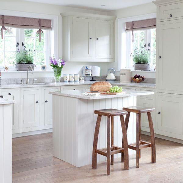 Small Square Kitchen Interior Design: Dekoracje Okienne W Stylu Rustykalnym
