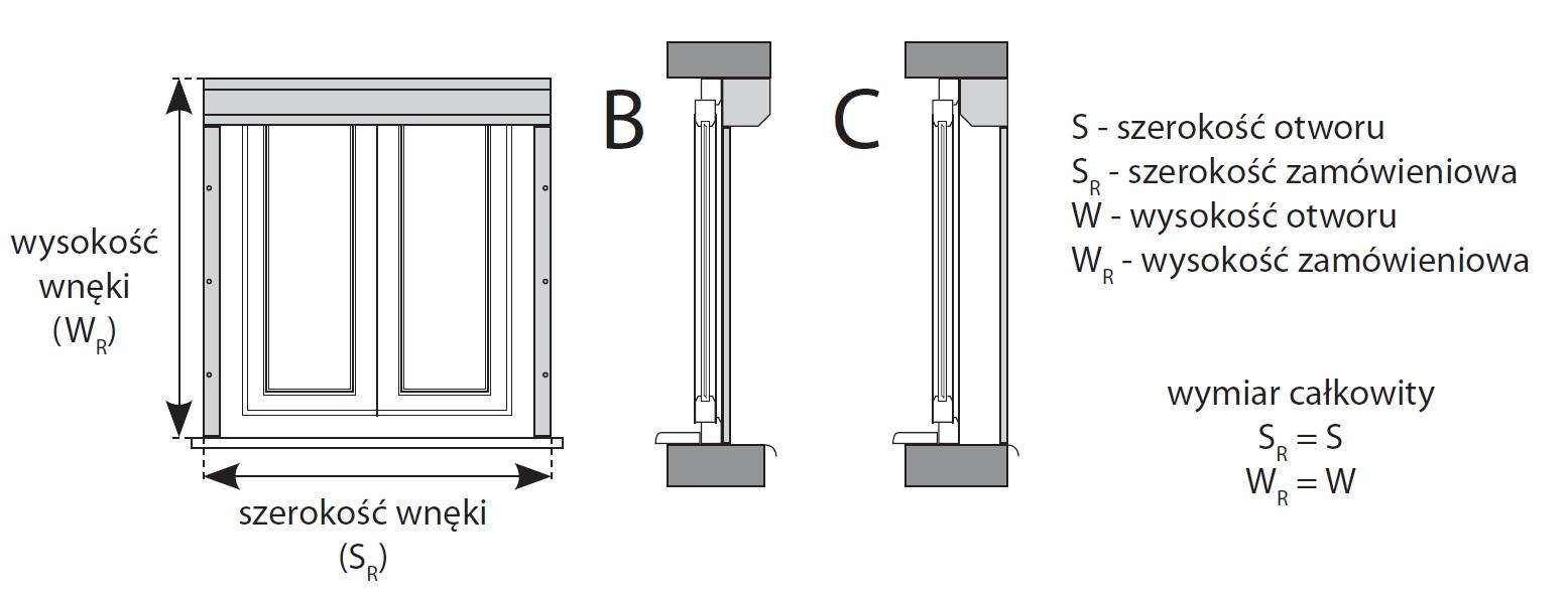 Instrukcja pomiaru rolety elewacyjnej